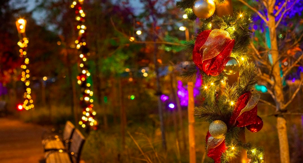 Lights At Eastern Glades At Memorial Park Are Now Aglow For The Holidays