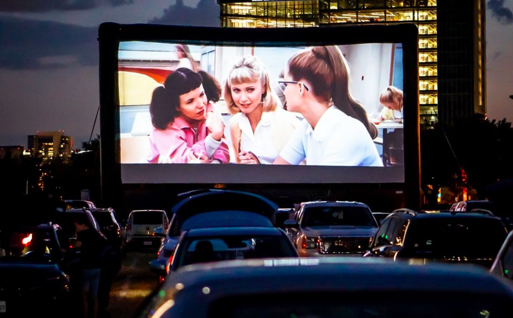 The 'Largest Drive-In Movie Screen In Houston' Is Now Open