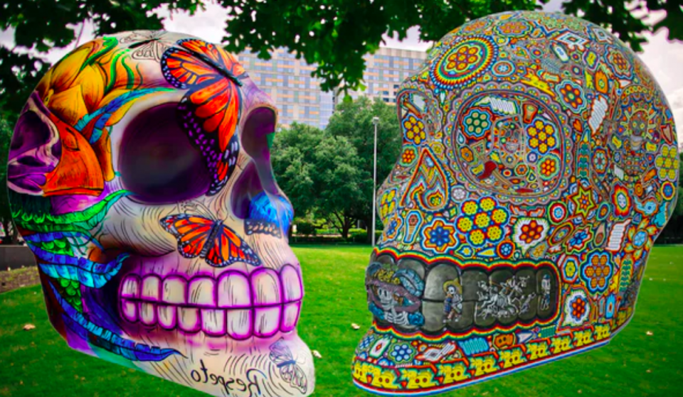 Vibrant Skull Installations Honoring Día De Los Muertos Landing In Discovery Green This Fall