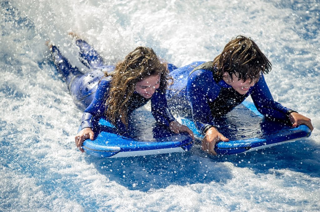 Discover the FlowRider surfing experience in Ibiza