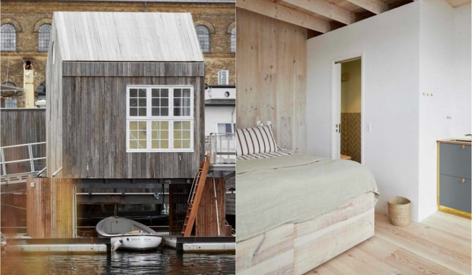 This Gorgeous Floating Hotel Room In Holmen Is Made Entirely From Recycled Materials