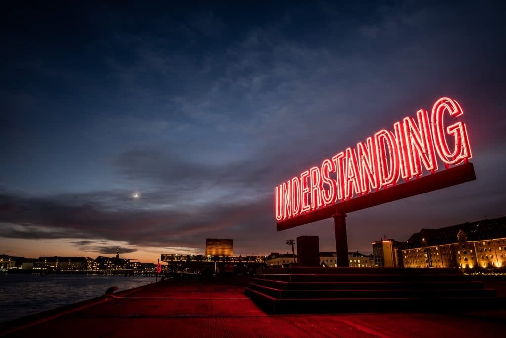 Some Amazing 15 Metre Wide Light Art Has Appeared in Ofelia Plads And It's Inspiring