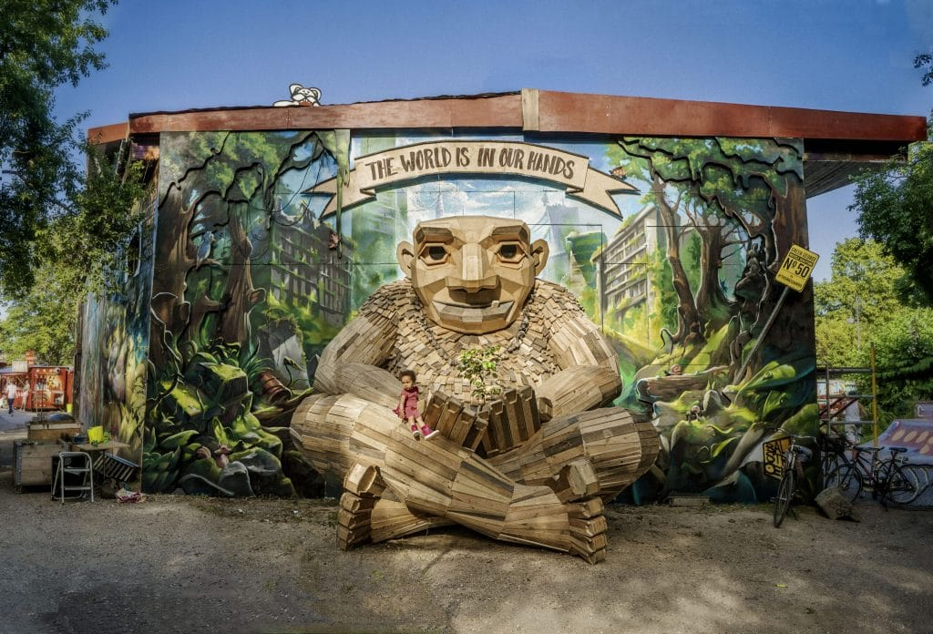 This Copenhagen Artist Creates Incredible Troll Sculptures From Recycled Trash