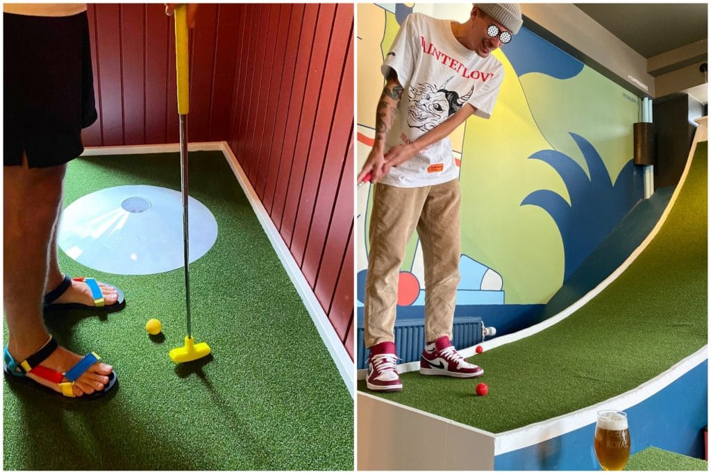 A Mini-Golf Bar With Fantastic Burgers Just Opened in Kødbyen