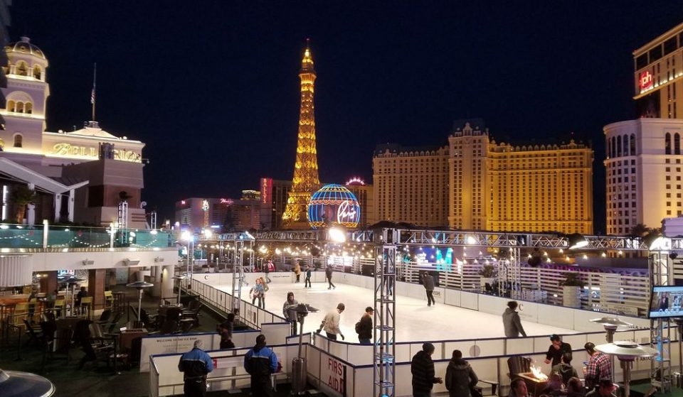The Dazzling Rooftop Ice Rink At The Cosmopolitan Opens This Month