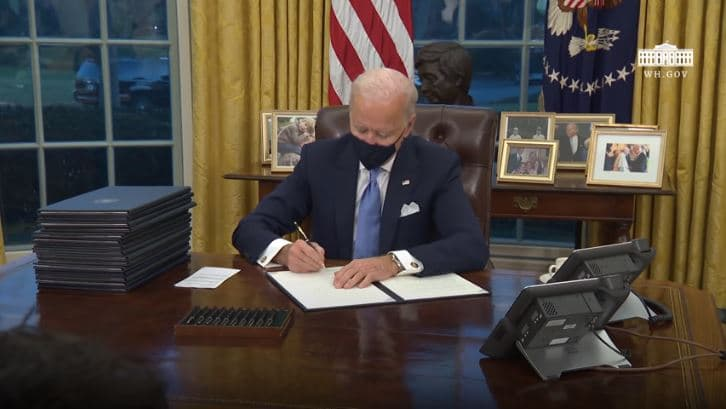 Everything President Biden Did On His First Day In Office