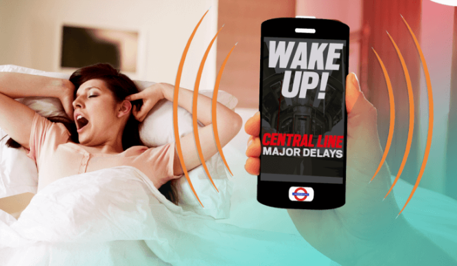 Genius New App Will Wake Londoners Up Early If There Are Travel Problems!