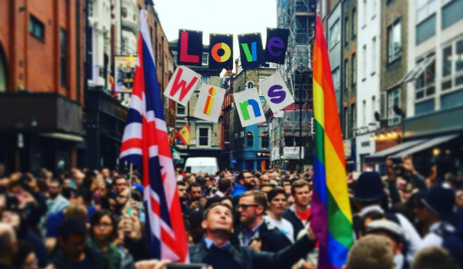 Thousands Of Londoners Gathered At Last Night's Vigil For Orlando In Soho