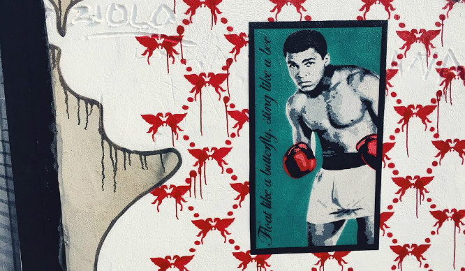 London Artist Pays Tribute To Muhammed Ali On Turnpike Lane
