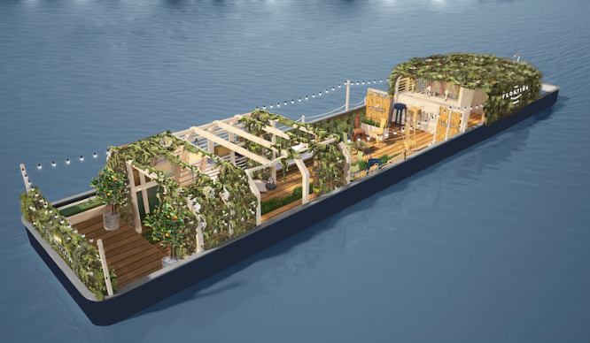 Barging Mad! A Floating Beer Garden Is Coming To London