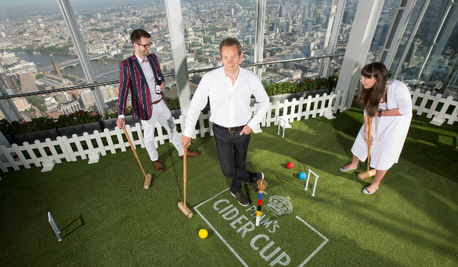 Swinging High! There's A Pop Up Croquet Garden On The Shard