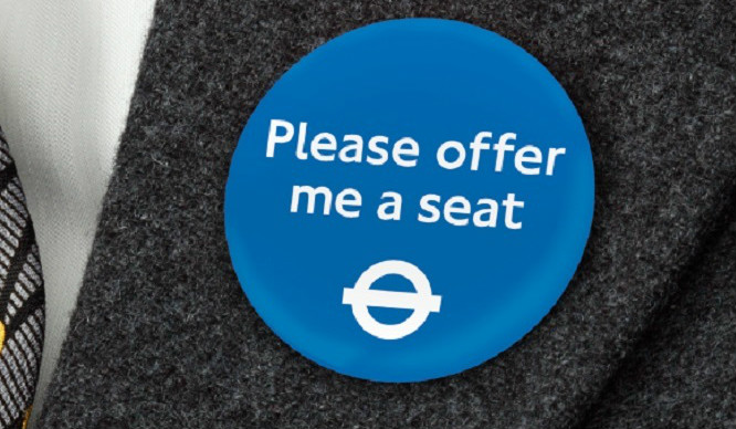 TfL Trials New 'Please Offer Me A Seat' Badge For The Tube