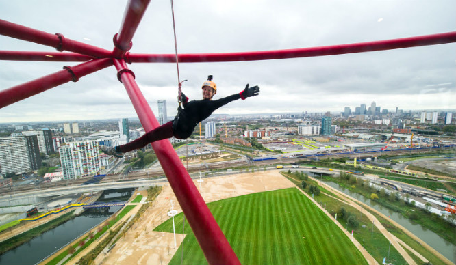 You Can Now Abseil Down The Arcelormittal Orbit!