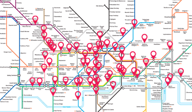 Listen To The Sound Of The Underground With This Interactive Tube Map