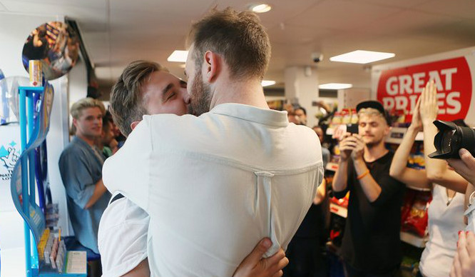 'A Big Gay Kiss' Took Place In Protest At Sainsbury's In Hackney This Weekend