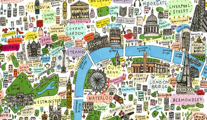 This Illustrated Map Of London Is The Cutest Thing We've Seen
