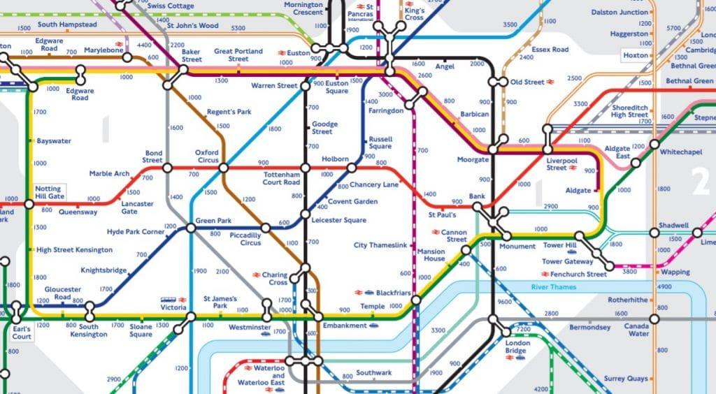 Tube map steps