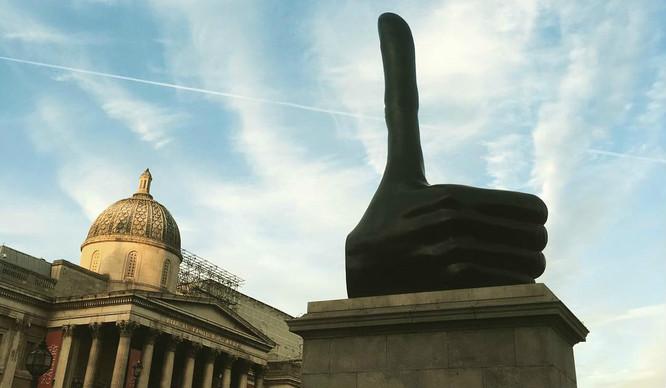 A Big Thumbs Up For Trafalgar Square's Fourth Plinth