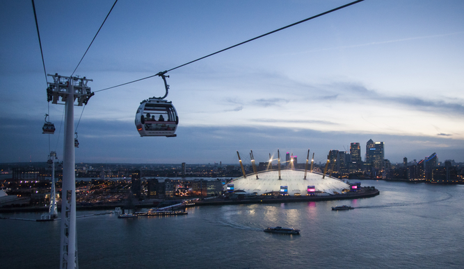 There Are Plans For Champagne and Karaoke On Emirates Air Line Cable Car