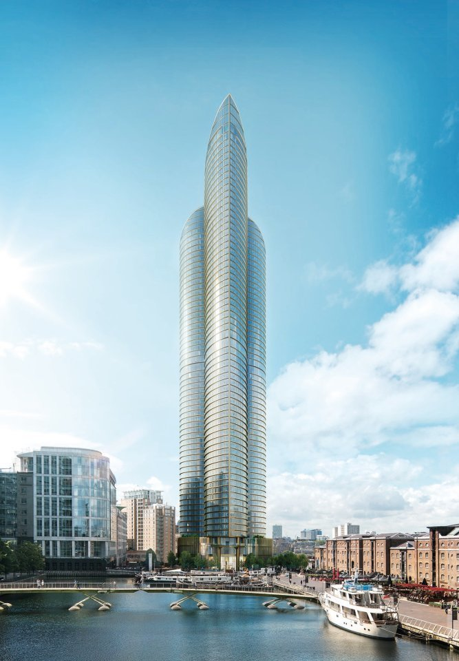 A Chinese developer has unveiled a new £800 MILLION London skyscraper which will be the tallest residential building in Western Europe. See SWNS story SWTALL. The 235-metre high Spire London will have 861 apartments spread across the 67 storeys. And on the 35th floor will be a huge spa with an infinity pool, gym, jacuzzi and fitness studio. The tower, which is being built by Shanghai-based Greenland Group, has been designed to provide uninterrupted panoramic views over the whole of London. It has the highest and most far-reaching views ever provided by apartments in the capital. Initial work on the Spire began earlier this year with the tower expected to open in 2020.