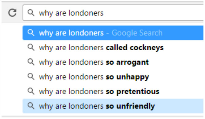 13 Times Google Auto-Complete Hated Londoners