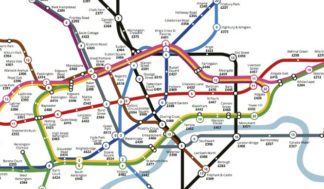 This Map Shows How Much Rent In London Costs For A Quicker Commute