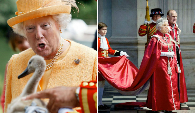 Someone's Been Photoshopping Trump's Face On The Queen And It's Terrifying