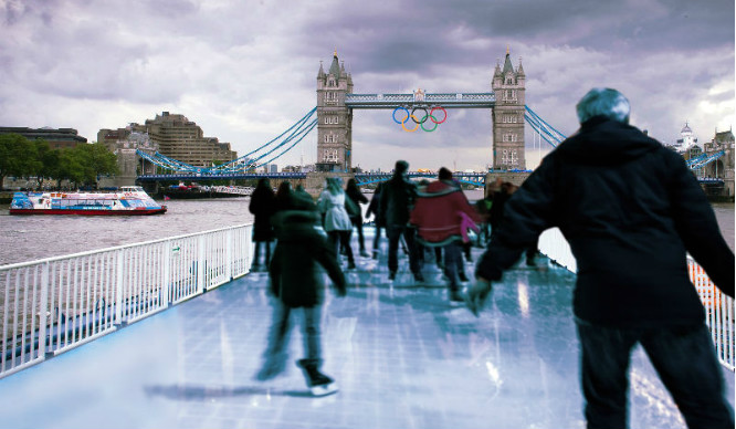 Seriously! There's An Ice Rink Floating On The Thames This Week
