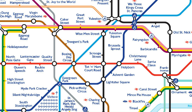 This Christmas-Themed London Underground Map Is Crackers!