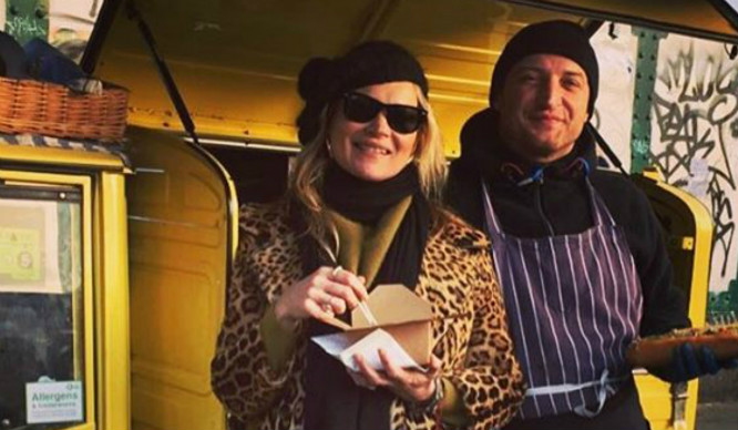 Kate Moss Has Been Serving Up Street Food From A Van In Brick Lane!