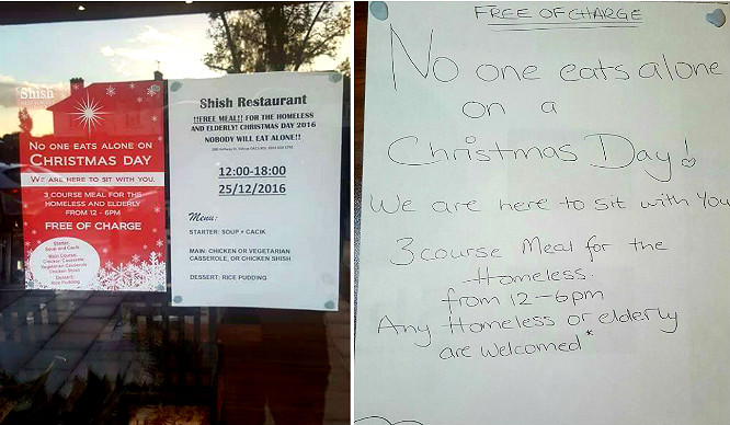 A Southeast London Restaurant Is Feeding The Homeless For Free This Christmas