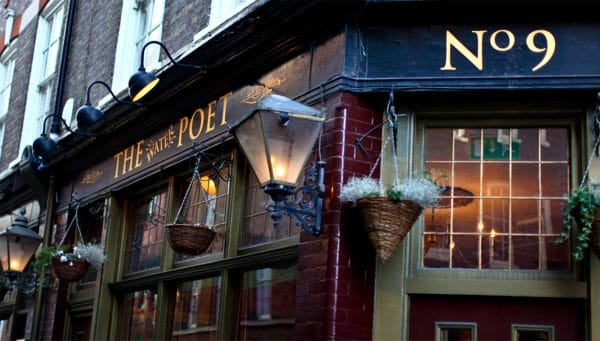 London Pub Water Poet Exterior