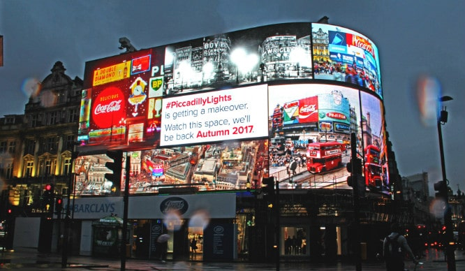 The Billboards On Piccadilly Circus Have Now Been Switched Off!