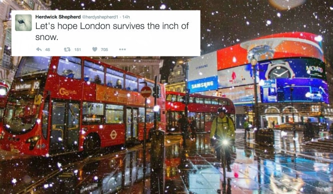 The Snow Hit London Last Night And Everyone's Reactions Were Brilliant