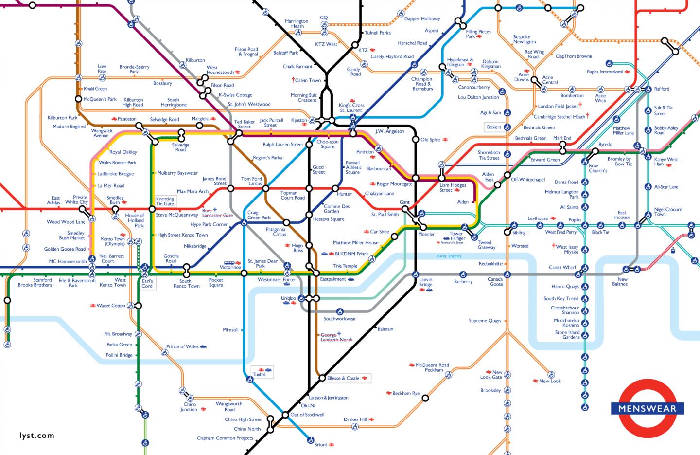 Lyst Menswear Tube Map