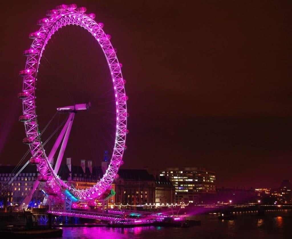 London Eye pink