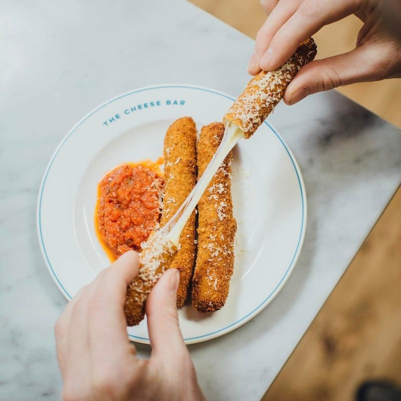 Mozzarella sticks at the London Cheese Bar