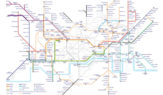 This TfL Map Will Help You Get Around London During The Tube Strike