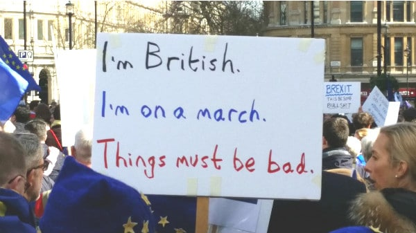 21 Signs From The Brexit March That Could Only Have Been Made By Londoners