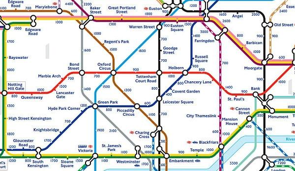tube walking map