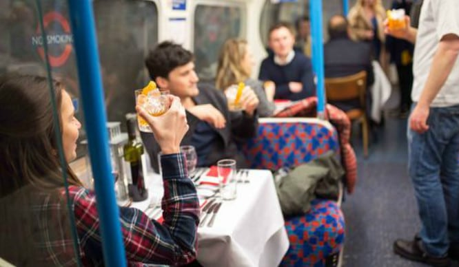 All Aboard! We've Found A Way To Eat A Four-Course Meal On The Tube Without Being Stared At