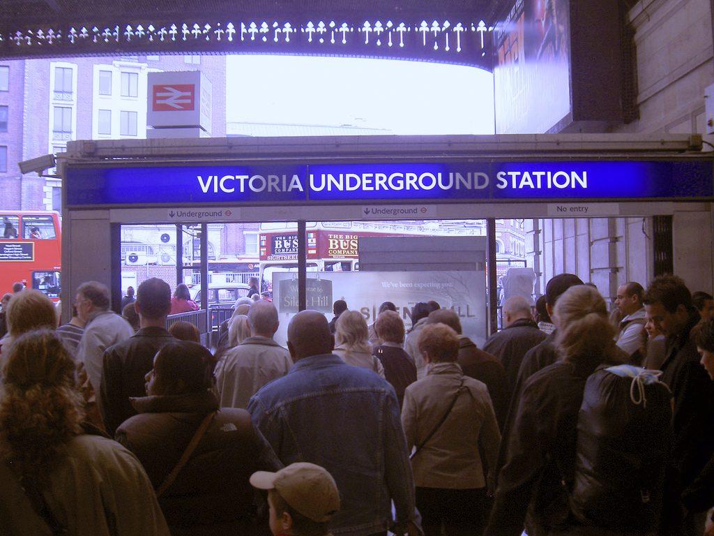 Victoria Line underground busy