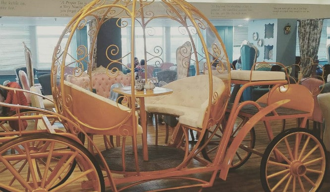 Take Your Tea In A Cinderella Carriage Like The Princess You Are