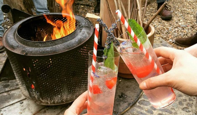 Toast Marshmallows By A Campfire At London's Torchlit Cocktail Garden