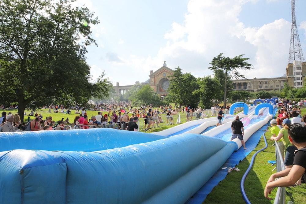Alexandra Palace Water Slide Summer Fest