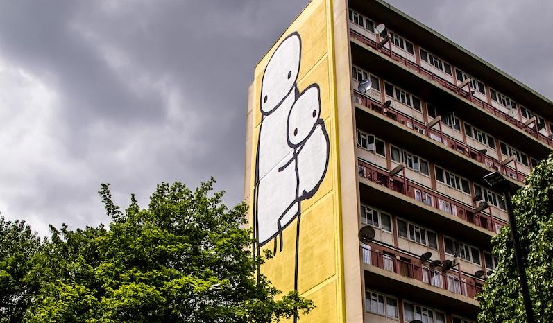 Stick man graffiti - stik london