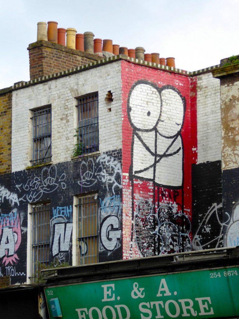 Street Art London - Stik Hugging