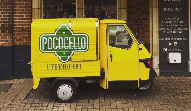 A Limoncello Van Is Now Tootling Around London