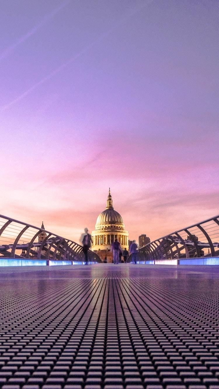 Millennium Bridge, London, St. Paul's iphone photo