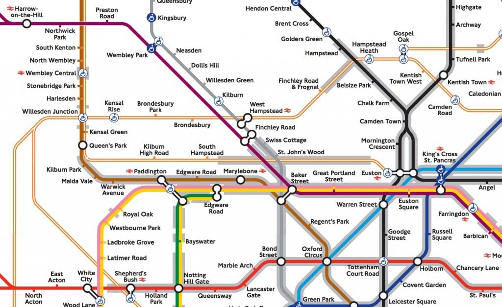 Tube Map Tunnels Claustrophobia